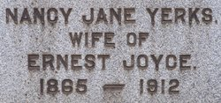 Nancy Jane <i>Yerks</i> Joyce