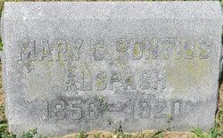 Mary C <i>Pontius</i> Alspach