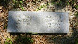 Mary Jane <i>McMillan</i> Davison