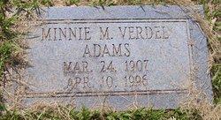 Minnie M <i>Verdel</i> Adams