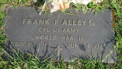 Corp Frank F. Alley, Sr