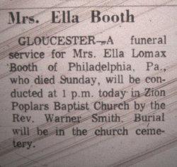 Ella <i>Lomax</i> Booth