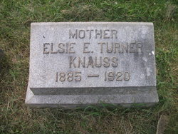 Elsie E <i>Turner</i> Knauss