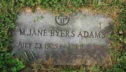 Mary Jane <i>Byers</i> Adams