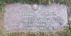 William S Bowser