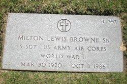 Milton Lewis Browne, Sr