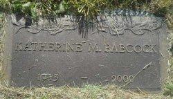 Katherine M Babcock
