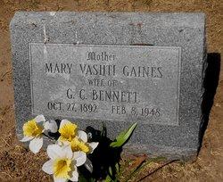 Mary Vashti <i>Gaines</i> Bennett