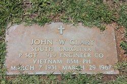 Sgt John Willard Clary