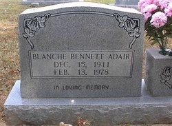 Blanche <i>Bennett</i> Adair