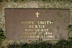 Hope <i>Smith</i> Bersie