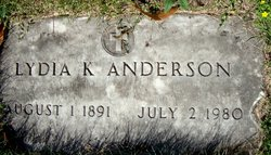 LYDIA K <i>NESS</i> ANDERSON