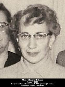 Alice J <i>Bouchard</i> Boyer
