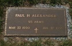 Paul H Alexander