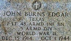 Lieut John Burns Edgar