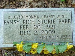 Pansy Ellene Mama Pansey <i>Rich</i> Babb