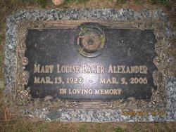 Mary Louise <i>Baker</i> Alexander