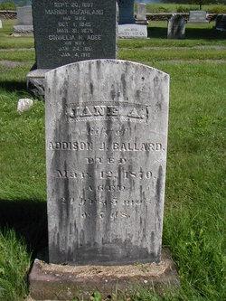Jane A. <i>Oliver</i> Ballard