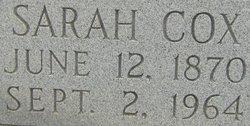 Sarah <i>Cox</i> Cooke