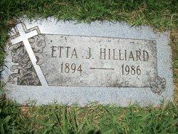 Etta J Hilliard