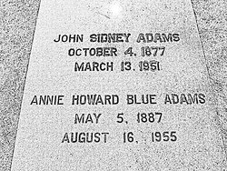 Annie Howard <i>Blue</i> Adams