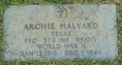 PFC Archie Halyard