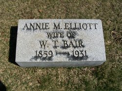 Annie M <i>Elliott</i> Bair