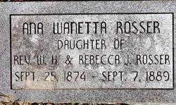 Ana Wanetta Nettie Rosser
