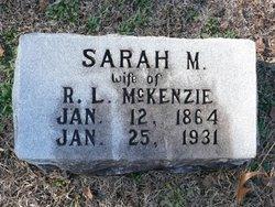 Sarah Margaret <i>McNair</i> McKenzie