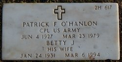 Patrick F O'Hanlon