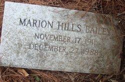 Ethel Marion <i>Hills</i> Bailey
