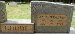 Mary Jessie <i>Wiseman</i> Goode