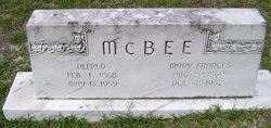 Mary Frances Sallie <i>Dinkins</i> McBee