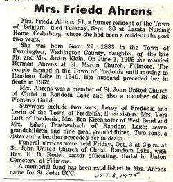 Frieda Ahrens