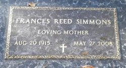 Frances <i>Reed</i> Simmons