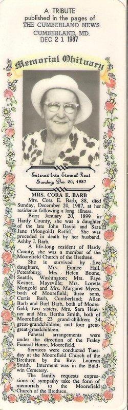 Cora E <i>Ratliff</i> Barb