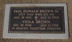 Paul Donald Brown, Sr