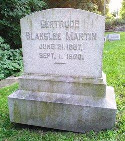 Gertrude B <i>Blakslee</i> Martin