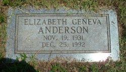 Elizabeth Geneva Betty <i>Greenwell</i> Anderson