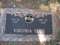 Virginia D <i>Baugh</i> Cudd