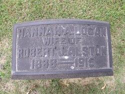 Hannah Anna <i>Logan</i> Alston