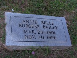 Annie Belle <i>Burgess</i> Bailey