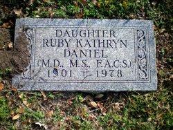 Dr Ruby Kathryn Daniel