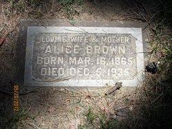 Alice <i>Hogan</i> Brown