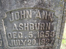 Johanna Anne Jennie <i>Maxfield</i> Ashburn