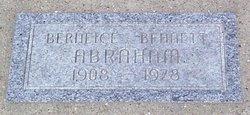 Berneice <i>Bennett</i> Abraham