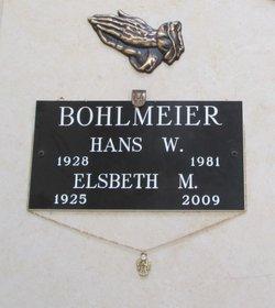 Elsbeth M <i>Spilker</i> Bohlmeier