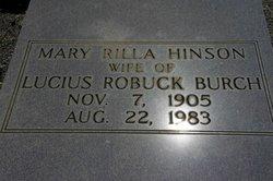 Mary Rilla <i>Hinson</i> Burch