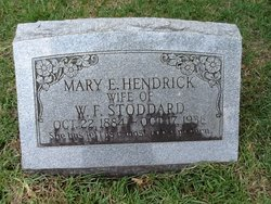 Mary E. <i>Hendrick</i> Stoddard