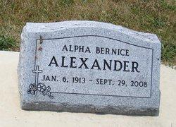 Alpha Bernice <i>Speicher</i> Alexander